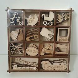 набор декоративных элементов для скрапбукинга и декупажа Малыш-2