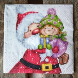 Салфетка для декупажа Санта