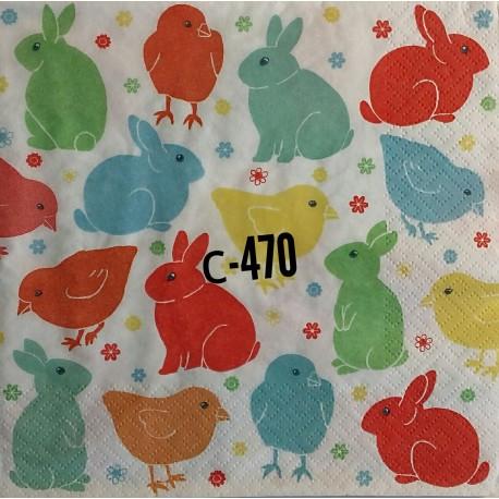 Салфетка Зайцы и цыплята