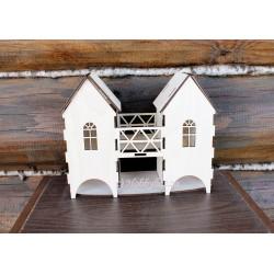 Чайный домик для декупажа с мостом