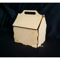 Коробка Домик сборный (под подарки)