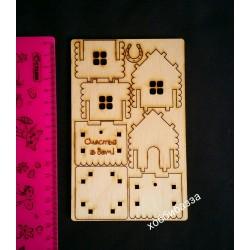 Домик-подвеска (чипборд)