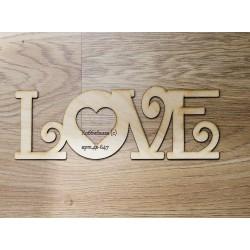 Слово Love узорное