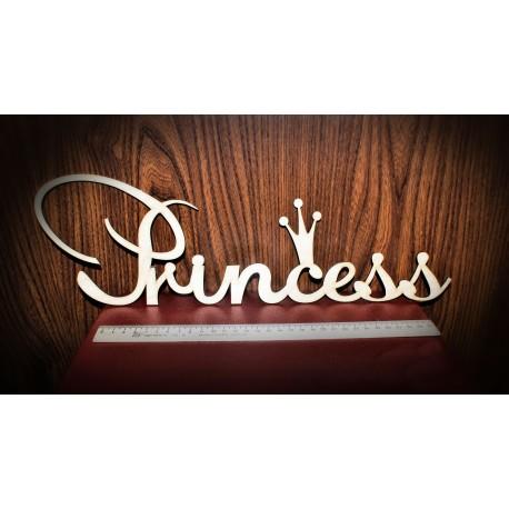 деревянное слово Princess (принцесса)