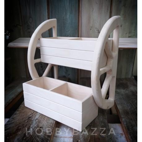 Деревянная полка кухонная под специи Колесо, купить