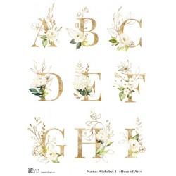 Декупажная карта Alphabet 1 - A3