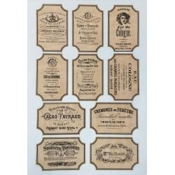 Декупажная карта Vintage label 13