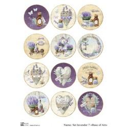 Декупажная карта Set lavender 7