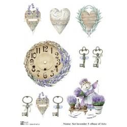 Декупажная карта Set lavender 5