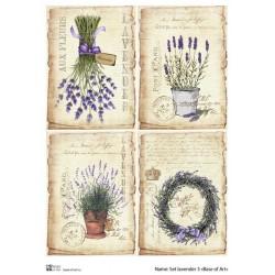 Декупажная карта Set lavender 3