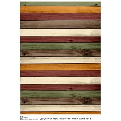 Декупажная карта Wood fon 8