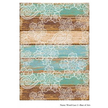 Base of Art декупажная карта А3 Wood+Lace 2