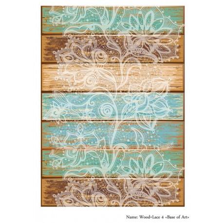 Base of Art декупажная карта А3 Wood+Lace 4