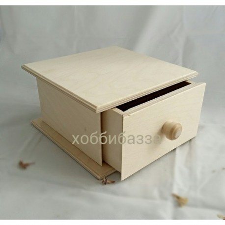шкатулка с выдвижным ящиком