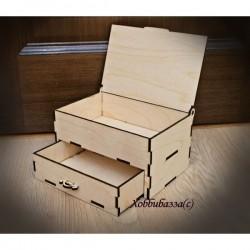 Шкатулочка с ящиком и крышкой