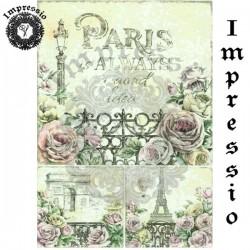Декупажная карта 15707 Париж винтаж, купить