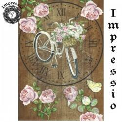 Декупажная карта 15632 Циферблат Велосипед шебби, купить