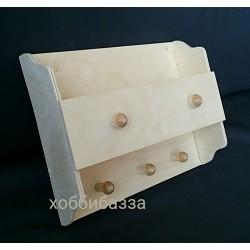 деревянная заготовка ключница / полочка