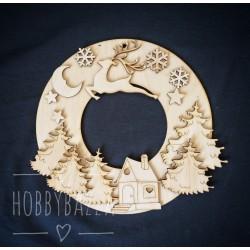 Заготовка Венок Рождественский олень