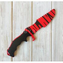 Нож сувенирный CS GO охотничий красный тигр