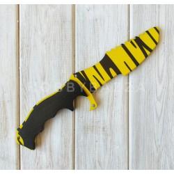 Нож сувенирный CS GO охотничий желтый тигр