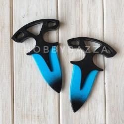 Тычковый нож сувенирный CS голубой