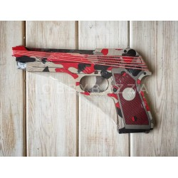 Резинкострел красный камуфляж