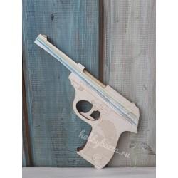 Пистолет резинкострел Вальтер, белый