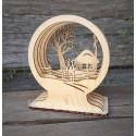 Интерьерное украшение 3D Зимний домик