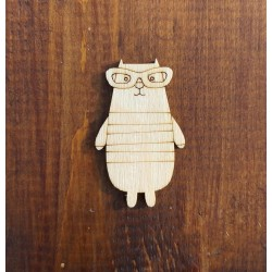 Заготовка Значок /магнит/ брошка Кошка в очках