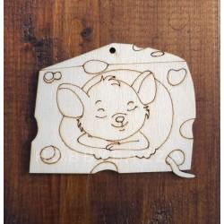 Подвеска Мышка в сыре