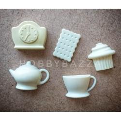 Пластиковый декор Чайный набор ( 5 элементов)
