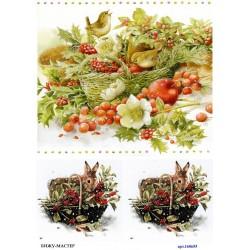 рисовая бумага Рождественская