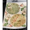 Декупажная карта Циферблаты Время роз