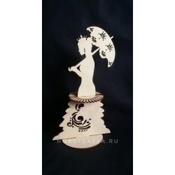 Салфетница Королева с зонтом