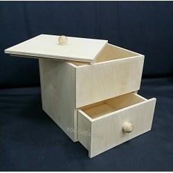 Заготовка для декупажа комод с крышкой и выдвижным ящиком