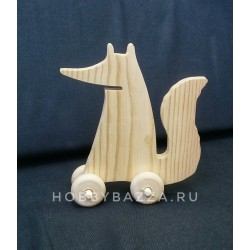 Деревянная игрушка Лиса