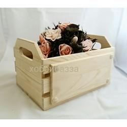 Реечный короб из массива сосны