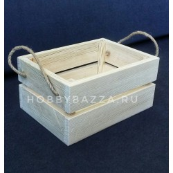 Ящик из сосны 21*15*10,4 см (реечный короб)