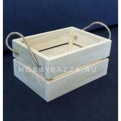 Ящик из сосны 25,5*17,5*11 см / Реечный короб