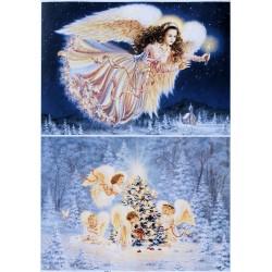 Декупажная карта Рождественский ангел