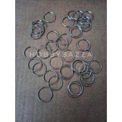 Кольцо брелка или ключей, металлическое, сплит кольцо диаметр 20 мм
