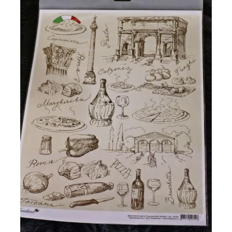 Декупажная карта Итальянские напевы, купить