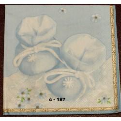 Салфетка Пинетки голубые