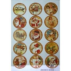 Рисовая бумага Новогодние шары