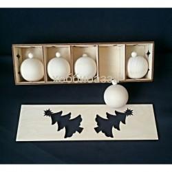 Набор новогодних игрушек ( 5 шаров)
