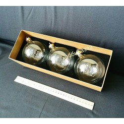 Набор стеклянных шаров 3 шт в коробке (без верха)