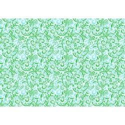 Декупажная карта Морозный фон зеленый