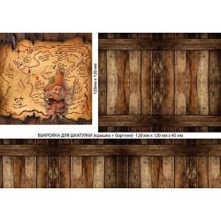 Декупажная карта Шкатулка пирата