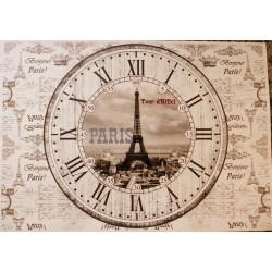 Декупажная карта Циферблат Париж